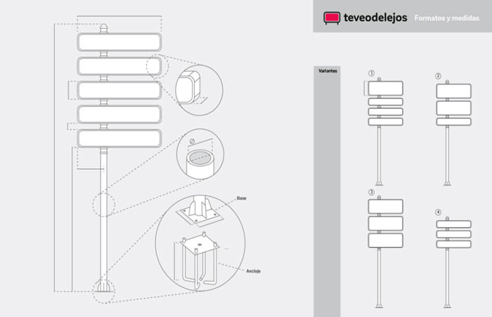 Soportes y módulos de señalización para empresas de primera calidad.